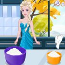 Elsa Cooking Banana Cream…