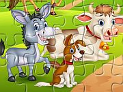 Play Farm Animals Jigsaw
